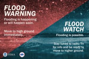 FEMA Flood Warning graphic