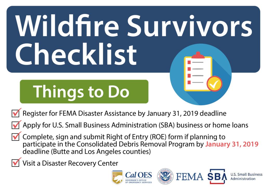 Wildfire Survivors Checklist