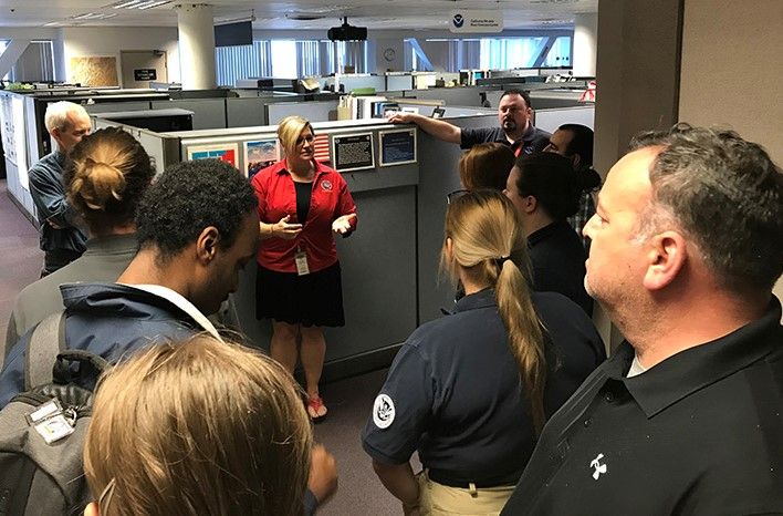 Michelle Mead gives tour of NOAA in Sacramento