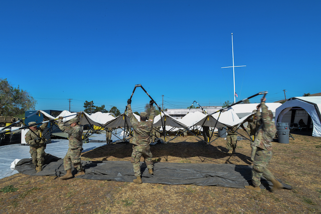 Soldiers Set Up a MASH