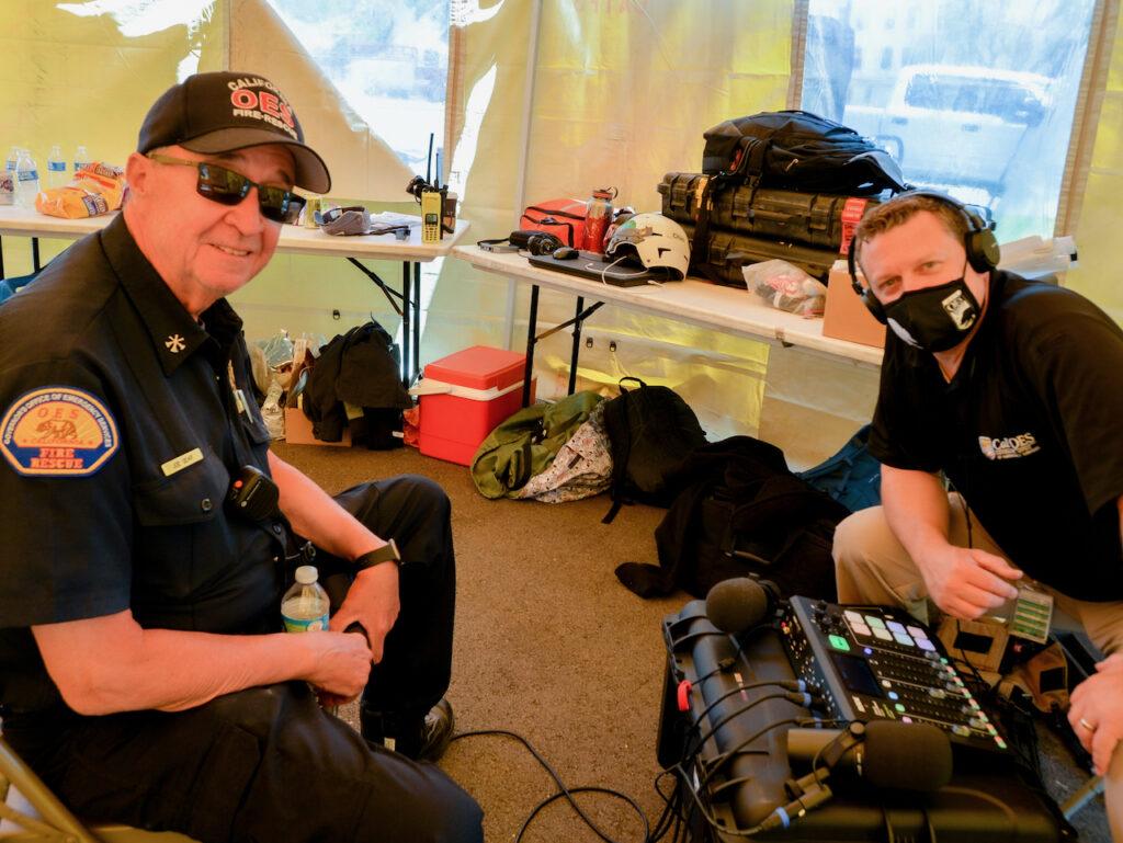 Asst. Chief Joe Gear and Host Shawn Boyd